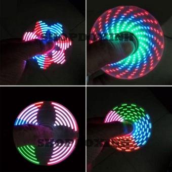 Con quay ma thuật spinner hiển thị nhiều hình led