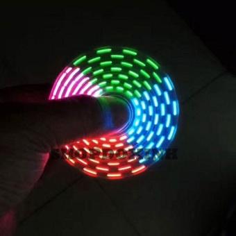 Con quay xả stress fidget spiner có led 18 kiểu đèn