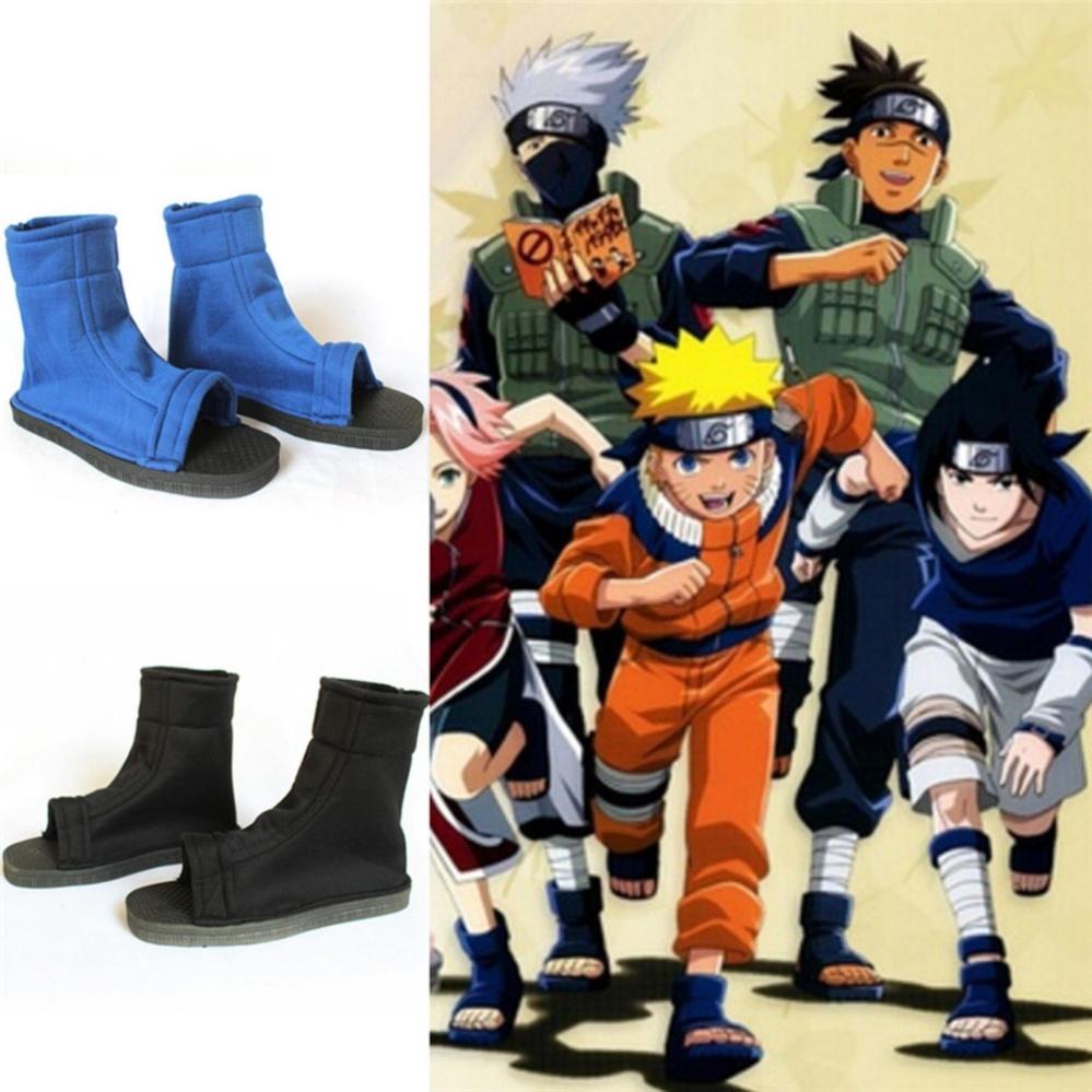 de9a6a4e0b Cosplay Shoes Blue Black Fuu Cosplay Party Ninja Shoes Boots Costume Black  39:27cm*9.5cm*2cm – intl