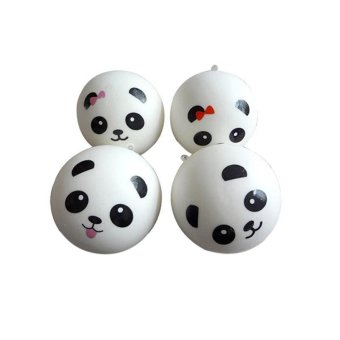 Cute Panda Squishy Kawaii Buns Bread Charms Key/Bag/Car/Cell Phone Straps - intl
