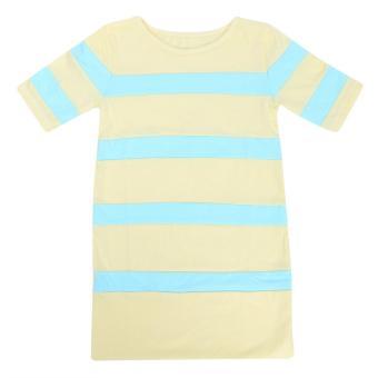 Đầm Suôn Phối Màu Pastel Cho Bé Gái - D04_V - MihaBaby