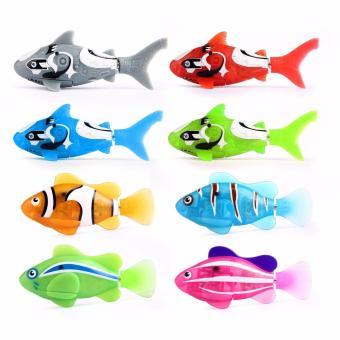 Đồ chơi cá chạy pin tự động Robo Fish Robofish + tặng kèm thêm 2 viên pin