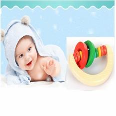 đồ chơi cho bé lục lạc cho bé lục lạc gỗ hình tròn và hình cung cho bé