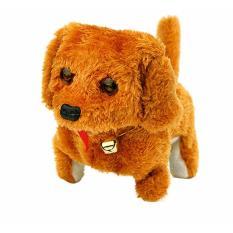Đồ chơi chú chó con chạy pin biết di chuyển kêu vây đuôi