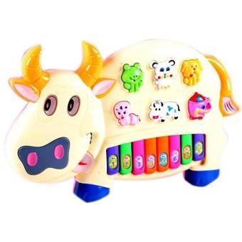 Đồ chơi đàn piano hình chú bò sữa