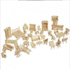 Đồ chơi ghép hình 3D bằng gỗ 184 chi tiết cho bé