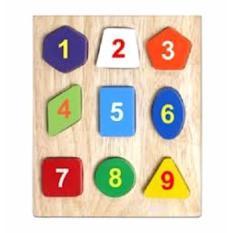 Đồ chơi gỗ – Bộ xếp 9 hình