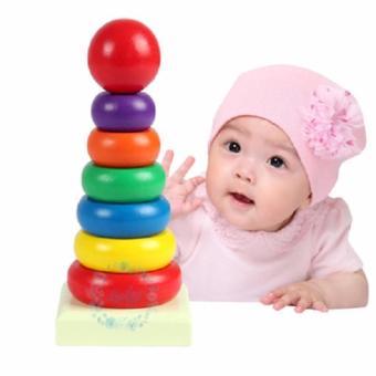 Đồ chơi gỗ tháp cầu vòng