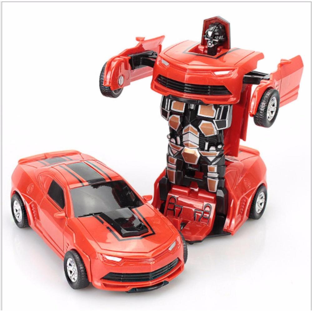Đồ chơi ô tô biến hình thành Robot Bumblebee( màu tùy ý)