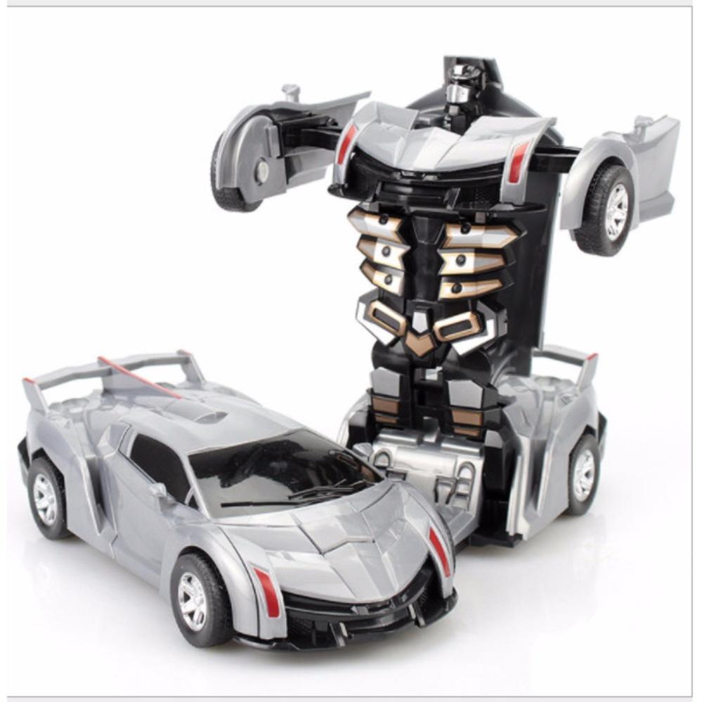 Đồ chơi siêu xe ô tô biến hình thành Robot (màu tùy ý)