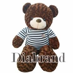 Gấu bông cao cấp Teddy áo thun màu nâu khổ vải 1m-TEDDYM08 (nhà bán hàng Diabrand)