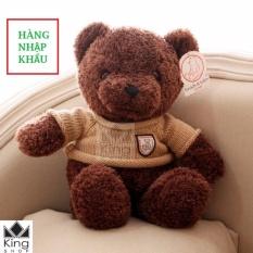 Gấu Bông Teddy Áo Len Cao Cấp Khổ Vải 60cm Cao 40cm – GB04 – Gấu Teddy Nhập Cao Cấp