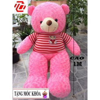 Gấu bông Teddy Cao Cấp khổ vải 1m2 Cao 1M màu Hồng