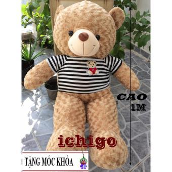 Gấu bông Teddy Cao Cấp khổ vải 1m2 Cao 1M màu Sữa hàng VNXK