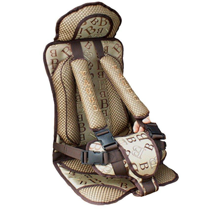 Ghế ngồi đa năng cho bé trên xe ô tô HQ206116-1 (Nâu)