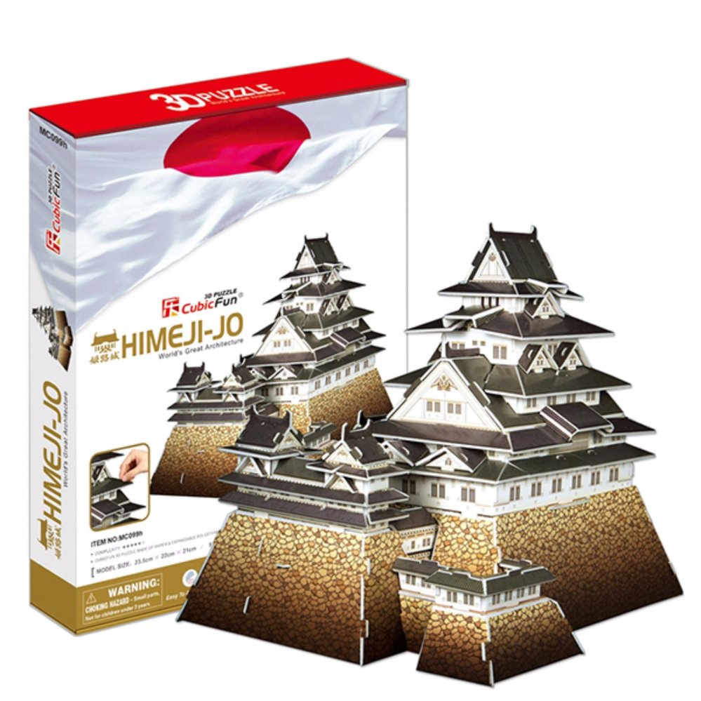 Ghép hình giấy 3D CubicFun Lâu đài Himeji-jo MC099h