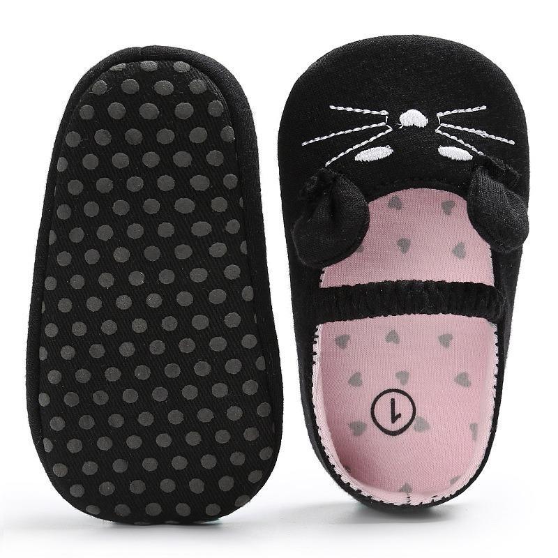 giày tập đi hình mèo cho bé gái