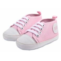 Giày tập đi bé gái Đế Vải Topstar BABY-13 cho bé bàn chân chiều dài 11.5cm (hồng phấn)