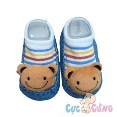 Giày tập đi cho trẻ sơ sinh – hình gấu