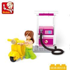 GIRL – Bộ lắp ráp trạm xăng tự động SLUBAN(37PCS)
