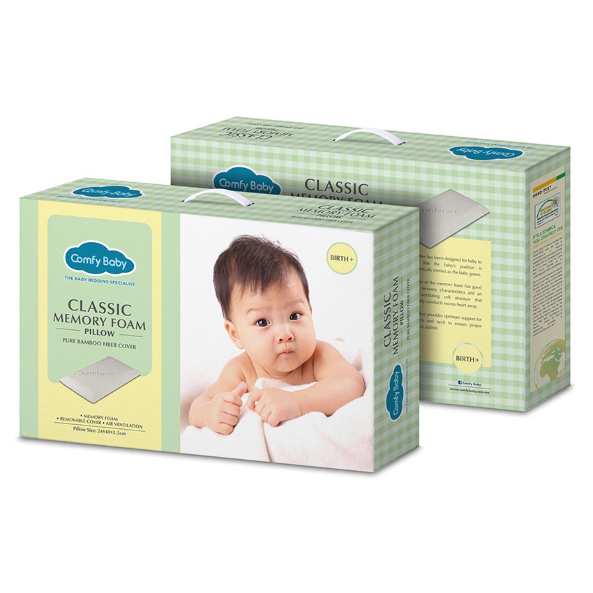 Gối đầu Comfy Baby CNF01 (Xanh lá) (Chống ngạt) (23x40x3.5)