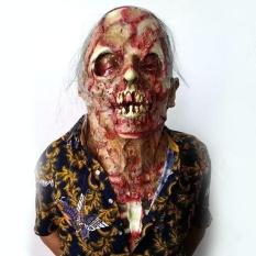 Hóa trang cho halloween-con Kinh Dị Halloween Hoành Hành Thây Ma Quỷ Đầu Lâu Headgears Mặt Nạ Trang Trí Đạo Chích Cao Su-quốc tế