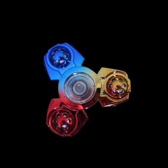 Hand spinner Mixed Tri Spinner Fidget Spinner For Autism ADHD ToysEDC TOYS - intl