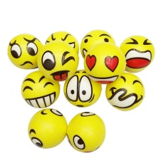 Happy Smile Face Anti Stress Relief Sponge Foam Ball Hand Wrist Squeeze Exercise – intl