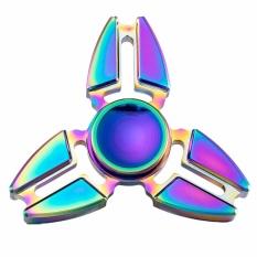 Hequ Con quay đồ chơi Fidget Spinner EDC ADHD, màu bảy sắc cầu vồng, chất liệu hợp kim kẽm, kích thước 4.9*4.9*4.9cm, giá siêu ưu đãi – INTL