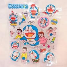 Hình dán – Happy Sticker Doremon và Nobita , Xuka chong chóng bay kim tuyến nổi ngộ nghĩnh , đáng yêu – 16STKDO0454