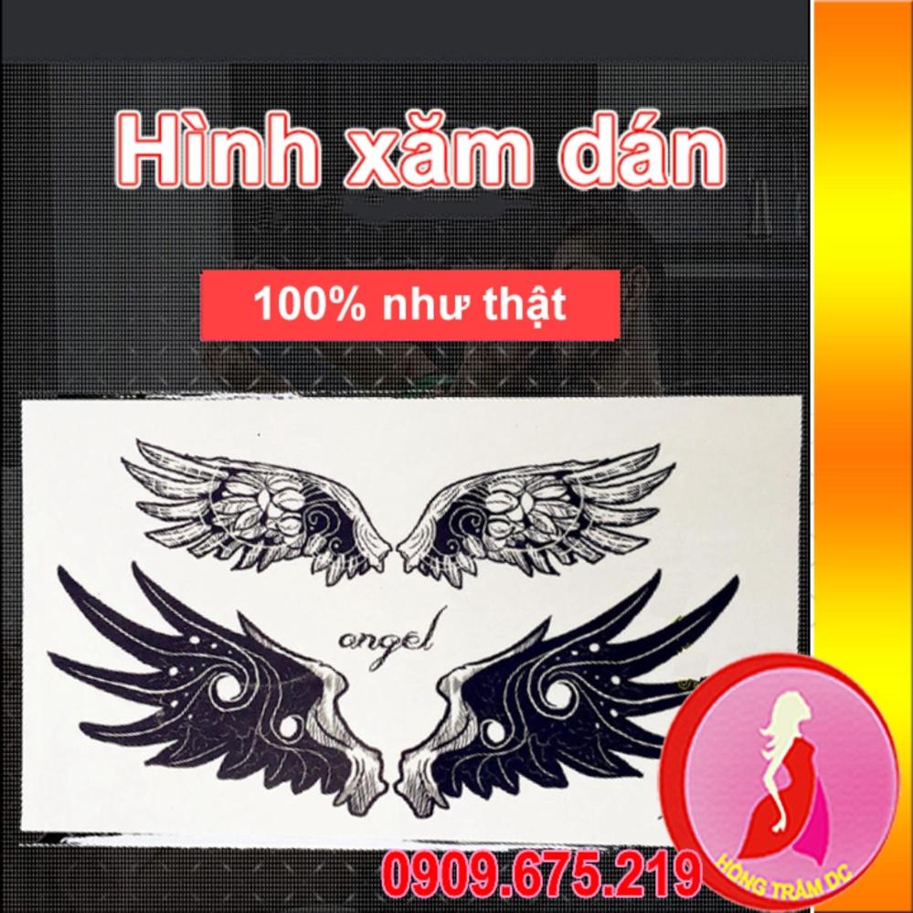 Hình xăm dán tattoo cao cấp – nghệ thuật cho nam, nữ – angel