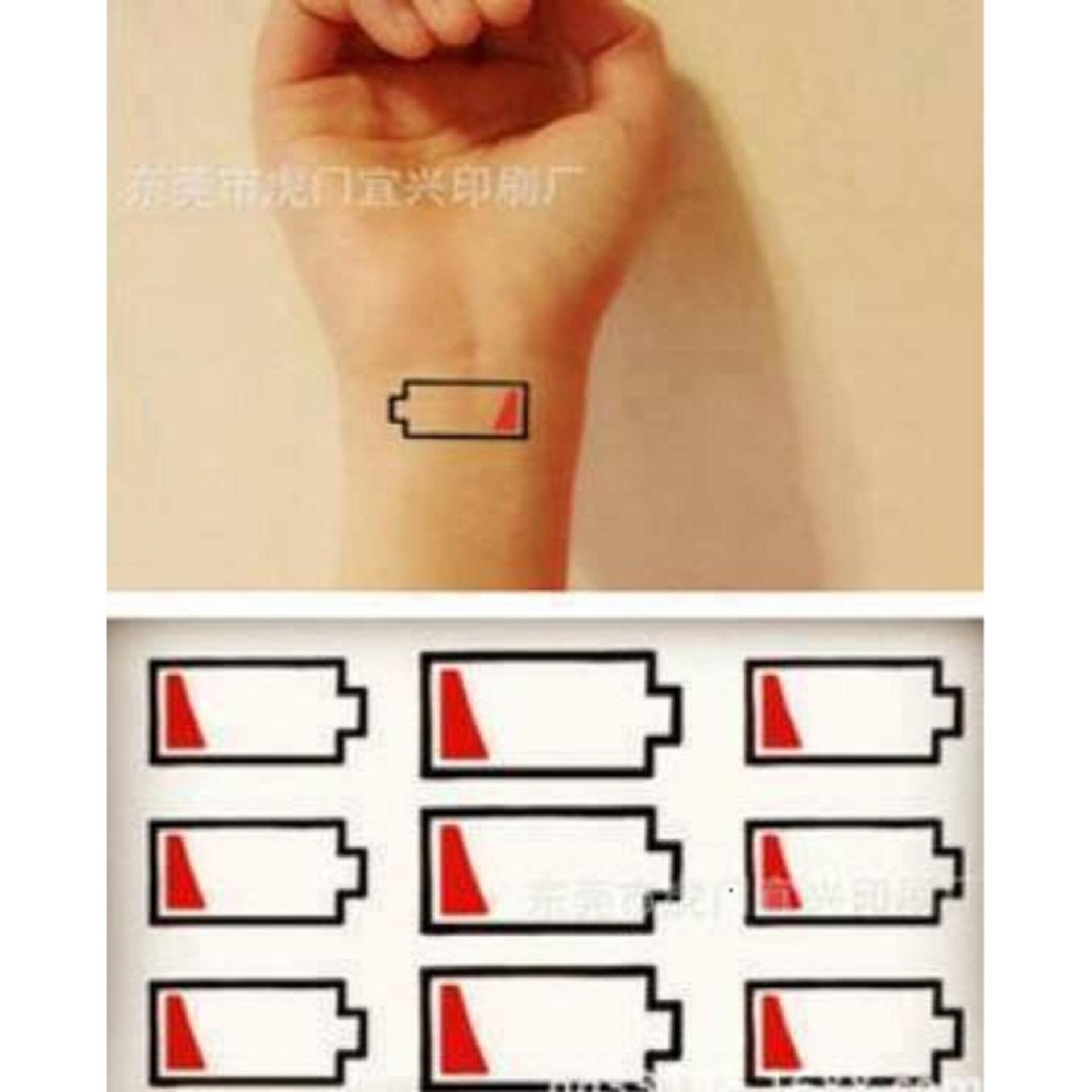 Hình Xăm Dán Tattoo Pin Yếu