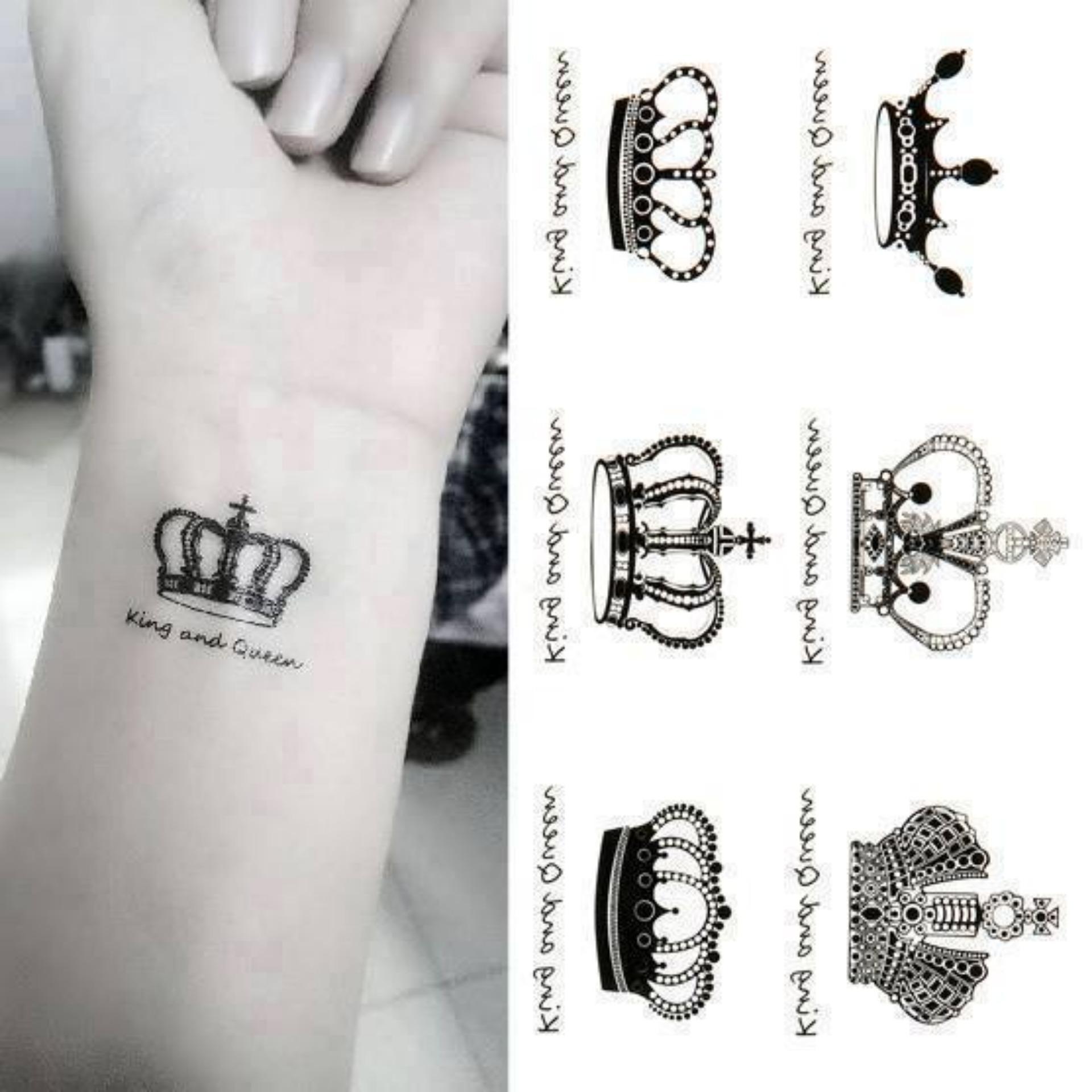 Hình Xăm Dán Tattoo Vương Miện