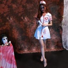 Holloween Halloween Trang Phục hóa Trang Nghịch Ngợm Y Tá Mũ Đội Đầu Lạ Mắt Đầm Đô-quốc tế