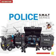 Hộp 8 bộ lắp ráp Biệt đội S.W.A.T – Lele Brother – Police 8522