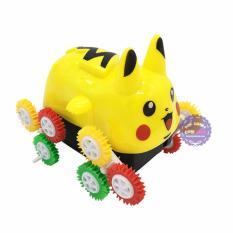 Hộp đồ chơi xe Pikachu nhào lộn 12 bánh lật chạy pin – ĐỒ CHƠI CHỢ LỚN