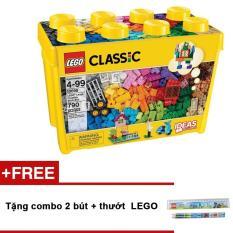 Hộp Lego Classic 10698 Thùng gạch lớn sáng tạo (790 chi tiết) + Tặng combo 2 bút + thướt LEGO
