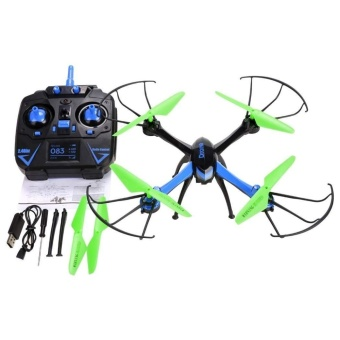 JJRC H98 New 2.4Ghz 4CH 6-Axis Gyro RC Aircraft with 0.3MP Camera3D Flip Auto-Return CF Mode Toy Blue - intl