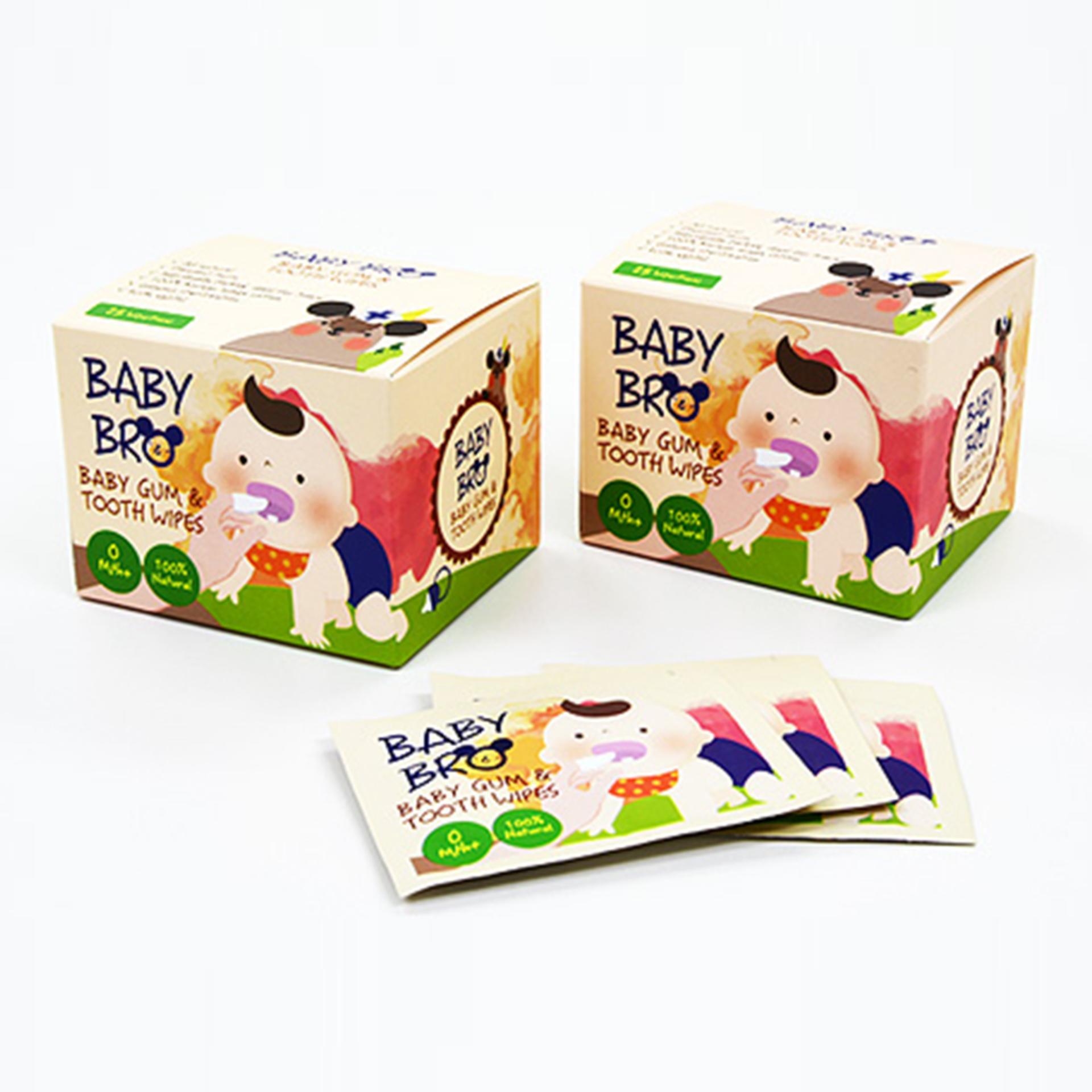 Gạc vệ sinh răng miệng trẻ em BaBy Bro (hộp 25 miếng).