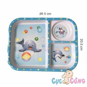 Khay cho bé tập ăn 3 ngăn hình chữ nhật nhựa - 3F - màu xanh dương - 8657216 , OE680TBAA94PI6VNAMZ-18048395 , 224_OE680TBAA94PI6VNAMZ-18048395 , 138000 , Khay-cho-be-tap-an-3-ngan-hinh-chu-nhat-nhua-3F-mau-xanh-duong-224_OE680TBAA94PI6VNAMZ-18048395 , lazada.vn , Khay cho bé tập ăn 3 ngăn hình chữ nhật nhựa - 3F - màu