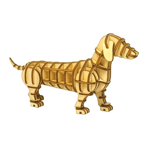 Lắp ghép gỗ 3D hình con chó Dachsfund hàng Nhật Bản không ẩm mốc