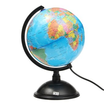 LED WORLD GLOBE Rotating Swivel Map of Earth Atlas Geography - intl