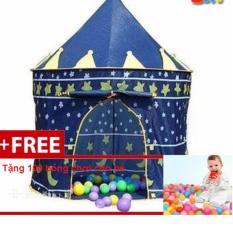 Lều bóng lâu đài cho hoàng tử kèm 100 quả bóng cho bé vui chơi thỏa thích