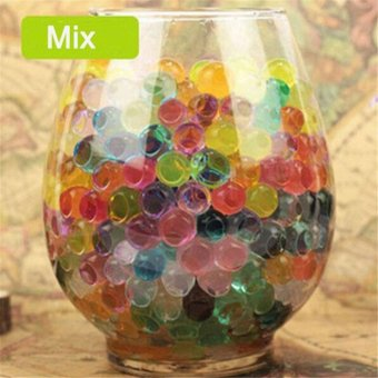 Magic Moisturizing Crystal Mud Soil Water Beads for Flower Planting(About 400pcs/Bag) - intl