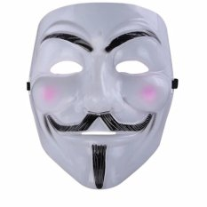 Mặt nạ Hacker mặt nạ Anonymous (Trắng)