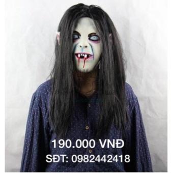Mặt nạ halloween tóc đen dài