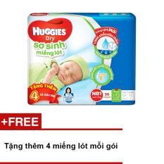 Miếng lót sơ sinh Huggies Newborn 1 (0-5kg) - N56 (Gói 56 miếng) + Tặng thêm 4 miếng lót mỗi gói