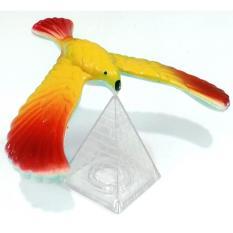 Mô hình chim cân bằng 14cm vàng đỏ