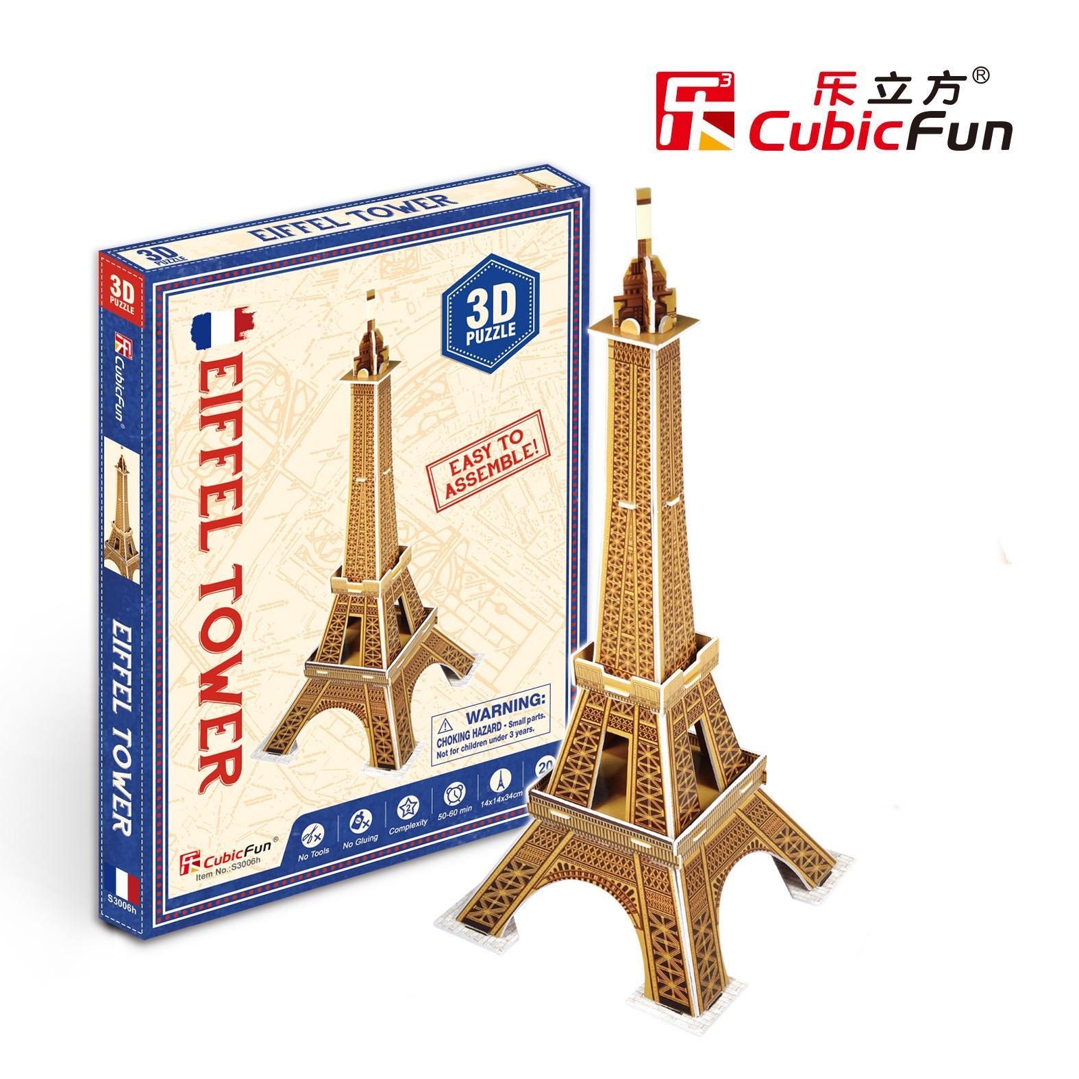 Mô hình lắp ghép trí tuệ 3D Cubic Fun – Tháp Eiffel