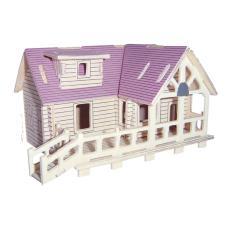 Mô hình lắp ráp 3D bằng gỗ sấy – Violet Mansion